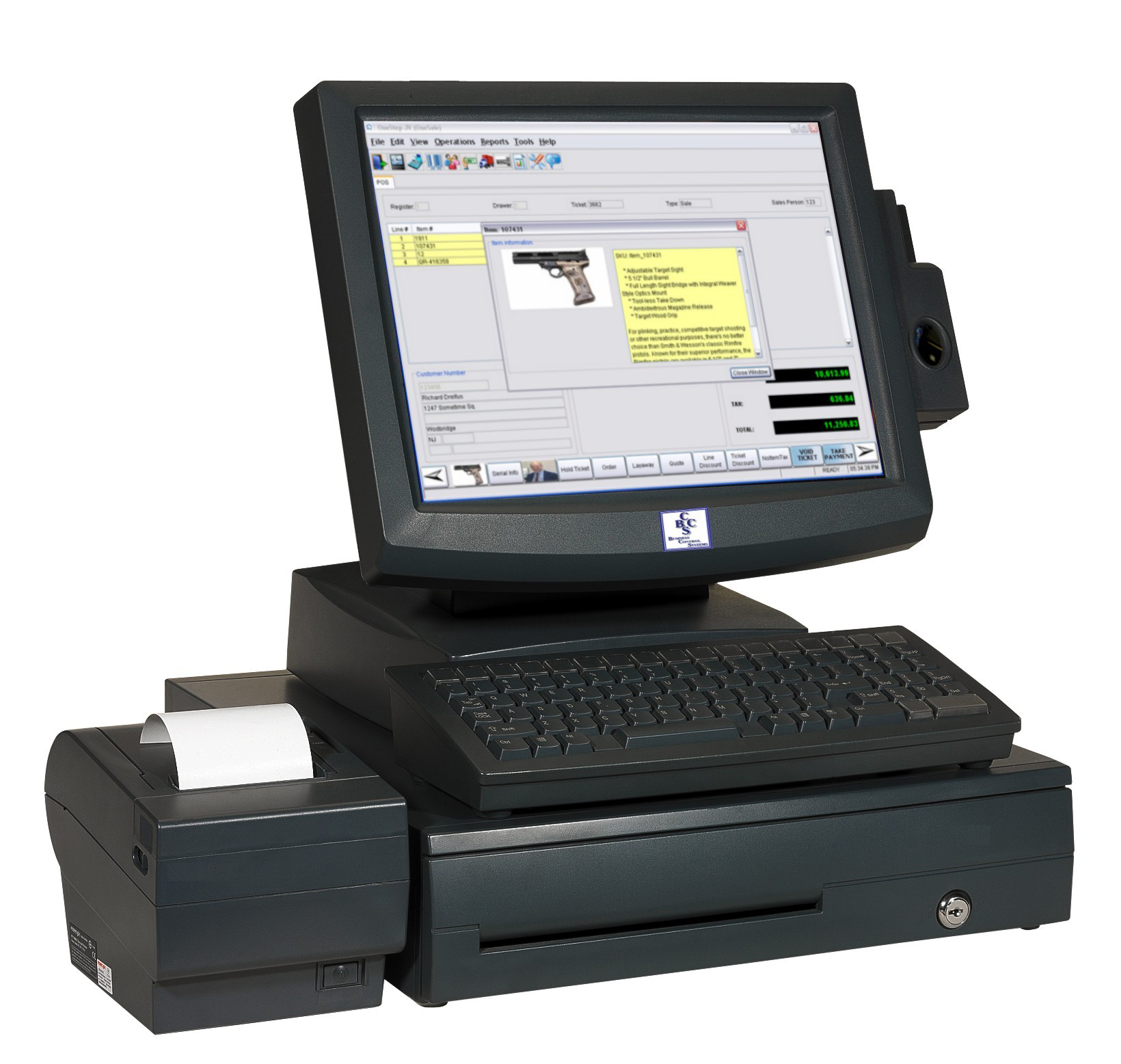 Complete easy to use point of sale systems, point of sale terminals and point of sale software are available from Business Control Systems.